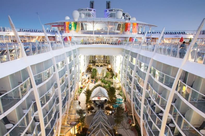 deck locations on a cruise ship