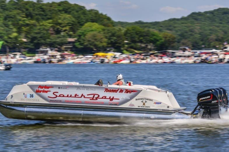 fastest pontoon boat in the world
