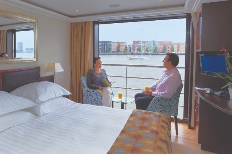 french balcony on a river cruise ship