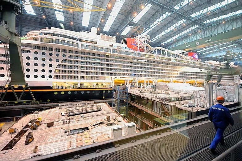 stages in building a cruise ship