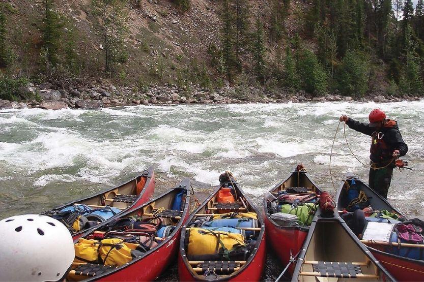 fishing canoe setup